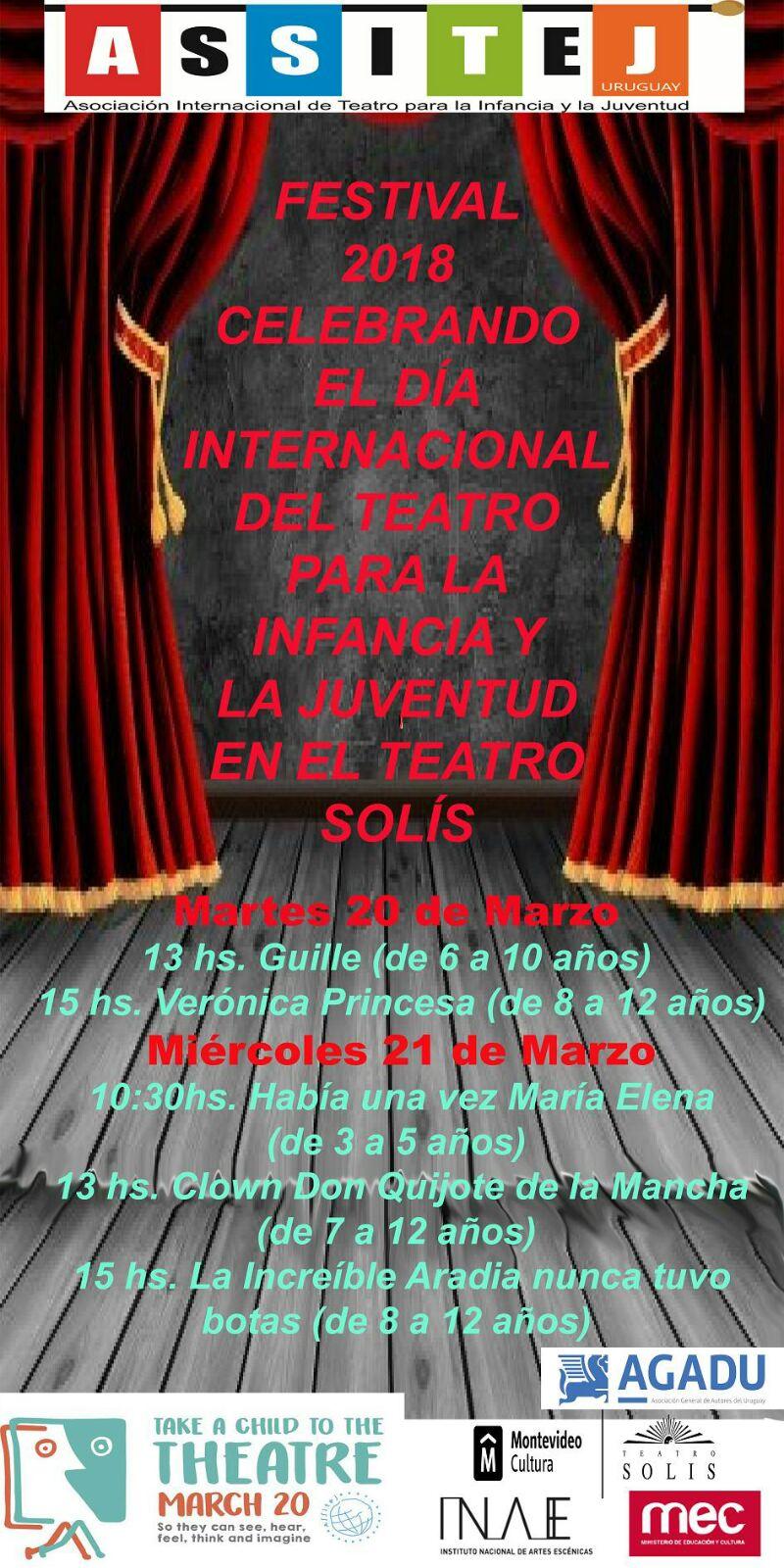 Festival Teatro Niños y Jovenes 2018
