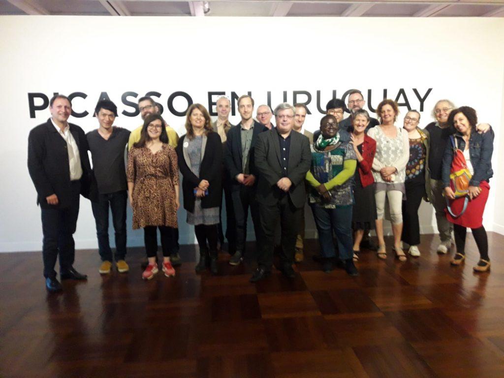 Visitando la muestra Picasso en Montevideo