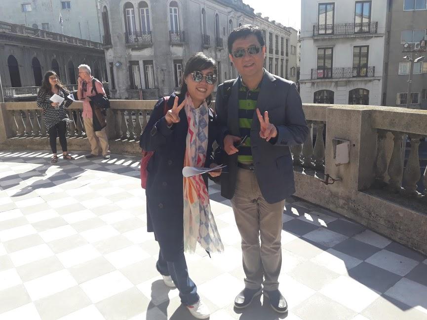 Participantes de China disfrutan de Montevideo en el marco  de la Reunión del EC en Montevideo